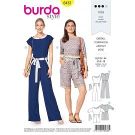 Patron Combinaison  - parements décorés Burda N°6433
