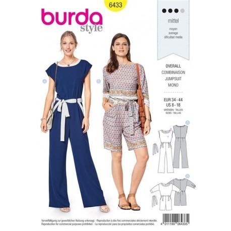 Sewing pattern Jumpsuit  - Decorative Edging Burda N°6433