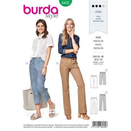 Sewing pattern Trousers/Pants – 7/8–Length - Flared Leg Burda N°6432