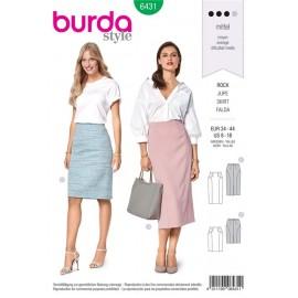 Sewing pattern Pencil Skirt – Concealed Vent Burda N°6431