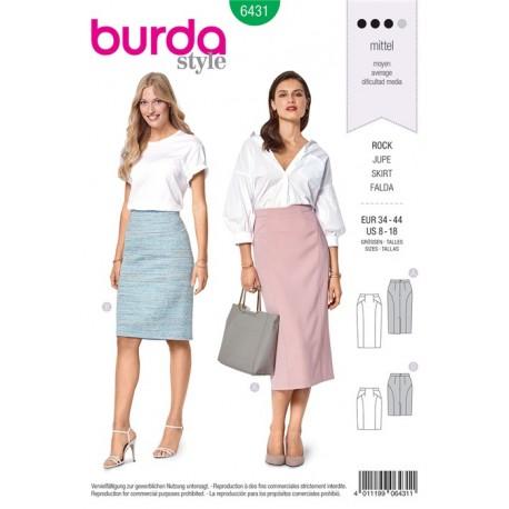 Burda Style Women Skirt Sewing Patterns Burda N 6431