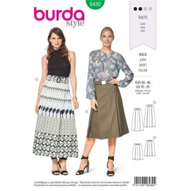 Sewing pattern Pleated Skirt – Inverted Pleats Burda N°6430