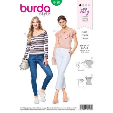 Patron T-shirt – encolure danseuse Burda N°6428