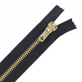 Aluminium Closed bottom zipper - ebony black