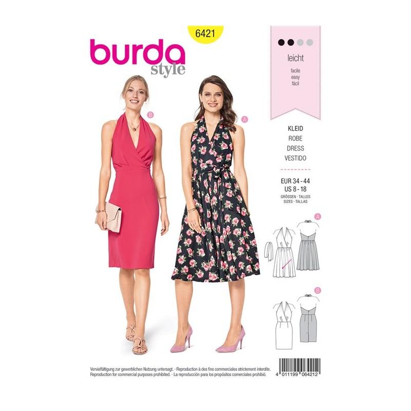 Burda Style Women Dress Sewing Patterns: Burda n°6421