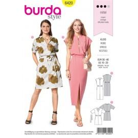 Sewing pattern Dress – Overcut Shoulders – Waist Casing Burda N°6420