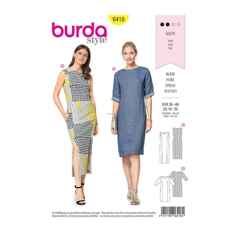 Burda Style Women Dress Sewing Patterns: Burda n°6418