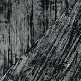 Froissé Velvet fabric - black x 10cm