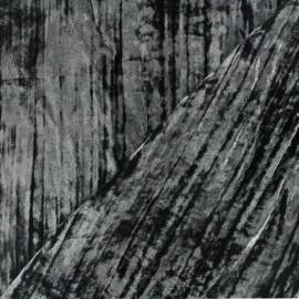 Tissu velours Froissé - noir x 10cm