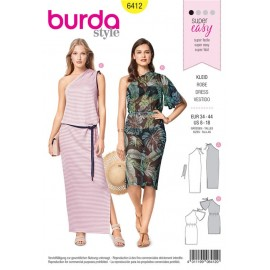 Sewing pattern One-Shoulder-Dress – Shoulder Gathers Burda N°6412