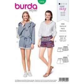 Patron Shorts – coulisse élastiquée – poches   Burda N°6409