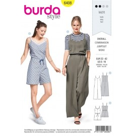 Sewing pattern Jumpsuit with Straps Burda N°6408