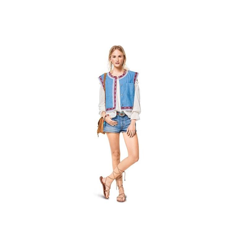 Burda Style Young Women Jacket Sewing Patterns Burda N 6407