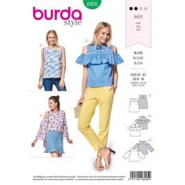 Patron Top avec empiècement – blouse – épaules découpées Burda N°6405