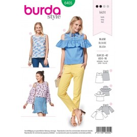Sewing pattern Top with Yoke – Blouse – Shoulder Cut-Outs Burda N°6405