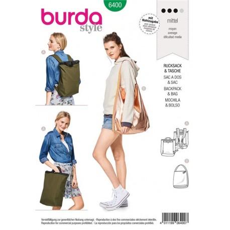 Sewing pattern Stylish City Backpack/Rucksack – Shopper with Zip Fastener Burda N°6400