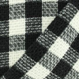 Tissu lainage Damier - noir/blanc x 10cm