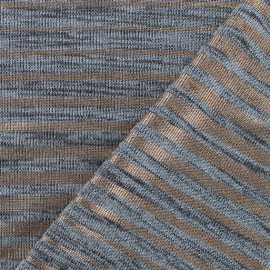 Stripe light stitch fabric - silver/copper x 10cm