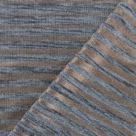 Tissu Maille légère Stripes - argent/cuivre x 10cm
