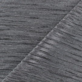 ♥ Coupon 10 cm X 140 cm ♥ Stripe light stitch fabric - silver x 10cm
