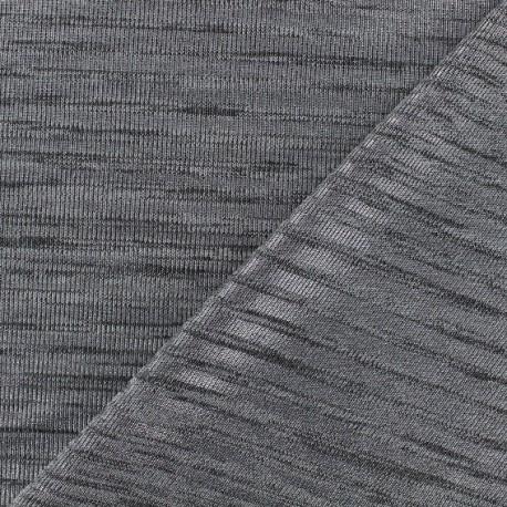 Tissu Maille légère Stripes - argent x 10cm