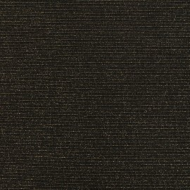 ♥ Coupon 170 cm X 148 cm ♥ Jersey plain sparkling stripes knitted fabric - black/gold