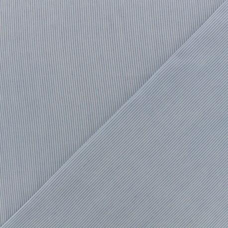Stripes Viscose fabric - white/sky blue x 10cm