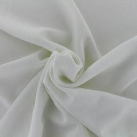 Tissu crêpe Pailleté - écru x 10cm