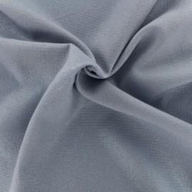 Tissu crêpe Pailleté - bleu x 10cm