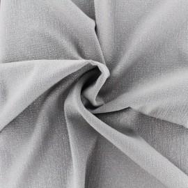 Tissu crêpe Pailleté - gris x 10cm