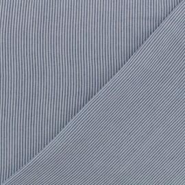 Tissu viscose Rayures - blanc/bleu x 10cm