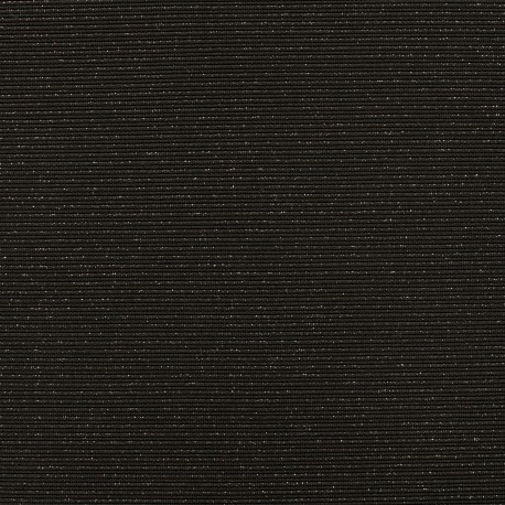 Jersey plain sparkling stripes knitted fabric - black/silver x 10cm