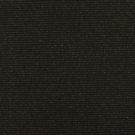 Tissu jersey maille Rayures paillettes - noir/argent x 10cm