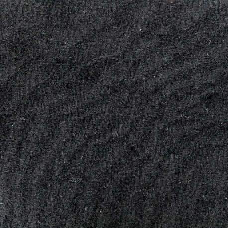Tissu éponge jersey noir x 10cm