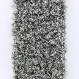 Ruban fourrure astrakan 100mm gris x 50cm