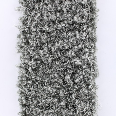 Astrakan Fur Ribbon 100mm x 50cm - Grey