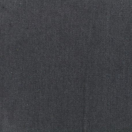 Tissu Jeans uni - gris x 10cm