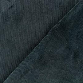 Tissu velours milleraies 200gr/ml - vert emeraude x10cm