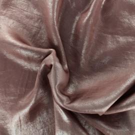 Tissu doublure satin irisé - vieux rose x 10cm