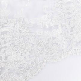Tissu Dentelle Nora - blanc x 10cm