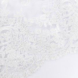 Nora Lace Fabric - white x 10cm