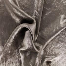 Iridescent satin lining fabric - taupe x 10cm