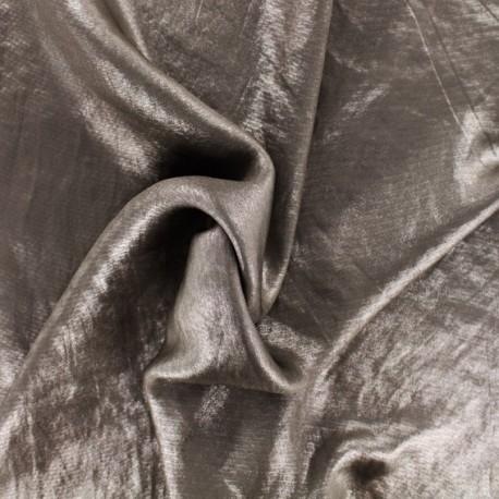 Tissu doublure satin irisé - taupe x 10cm