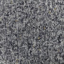 Tweed fabric Opéra - steel x 10cm