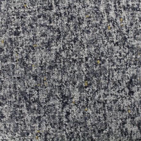 Tissu Tweed Opéra - acier x 10cm