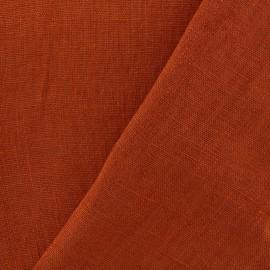 Tissu lin lavé Thevenon - orange safran x 10cm