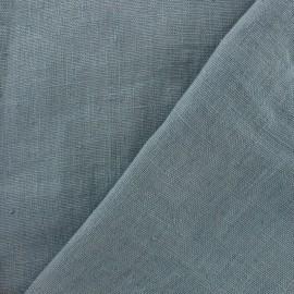 Tissu lin lavé Thevenon - bleu gris x 10cm