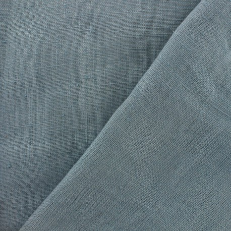 Thevenon washed Linen Fabric - grey blue x 10cm