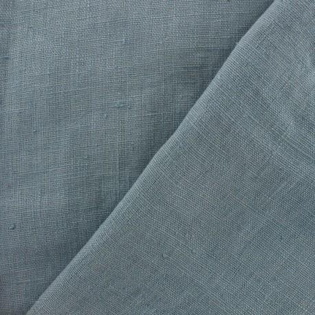 3f47920b08159 Tissu d ameublement ou d habillement lin lavé Thevenon - bleu gris