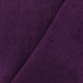 Thevenon washed Linen Fabric - prune x 10cm